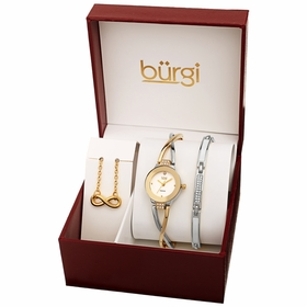 Burgi BUR213TTG-S Flash Plated Ladies Quartz Watch