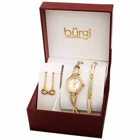 Burgi BUR213YG-S Swarovski Crystal Ladies Quartz Watch