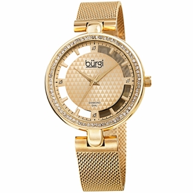 Burgi BUR262YG  Ladies Quartz Watch