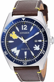 Citizen AW1599-00W Mickey Mouse Mens Eco-Drive Watch