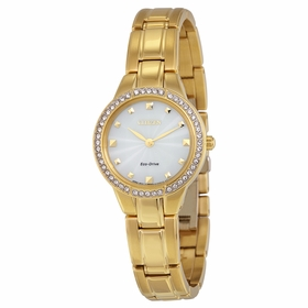 Citizen EX1362-54P Silhouette Crystal Ladies Eco-Drive Watch