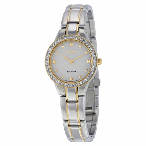 Citizen EX1364-59A Silhouette Crystal Ladies Eco-Drive Watch