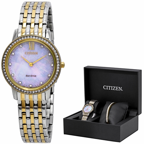 Citizen EX1484-65D Silhouette Crystal Ladies Eco-Drive Watch