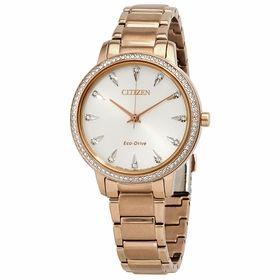 Citizen FE7043-55A Silhouette Crystal Ladies Eco-Drive Watch