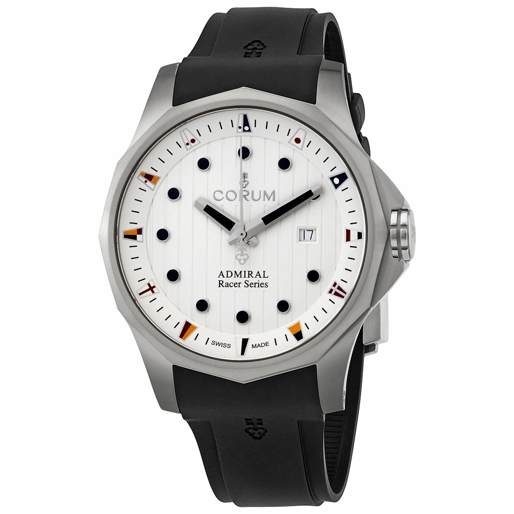 Corum Admiral's Cup Racer Automatic White Dial Men's Watch