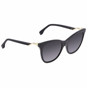 Fendi FE-FF0200S 807 55 Cube Ladies  Sunglasses