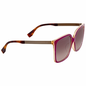 Fendi FF 0076/F/S DXV\XQ Logo Ladies  Sunglasses