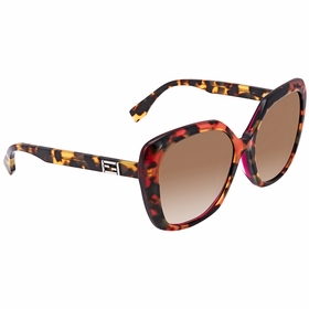 Fendi FF 0107/F/S D4Y/DB FF0107FS Ladies  Sunglasses