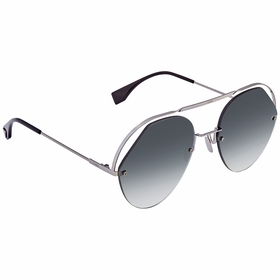 Fendi FF0326SKB79O57 Crystals & Ribbons Ladies  Sunglasses