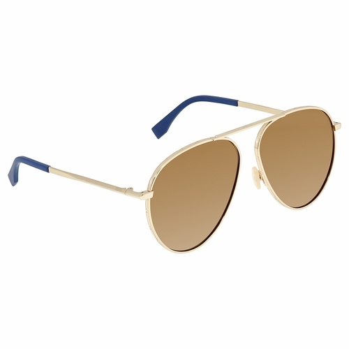 Fendi FFM0028SJ5GET61 Around Mens  Sunglasses