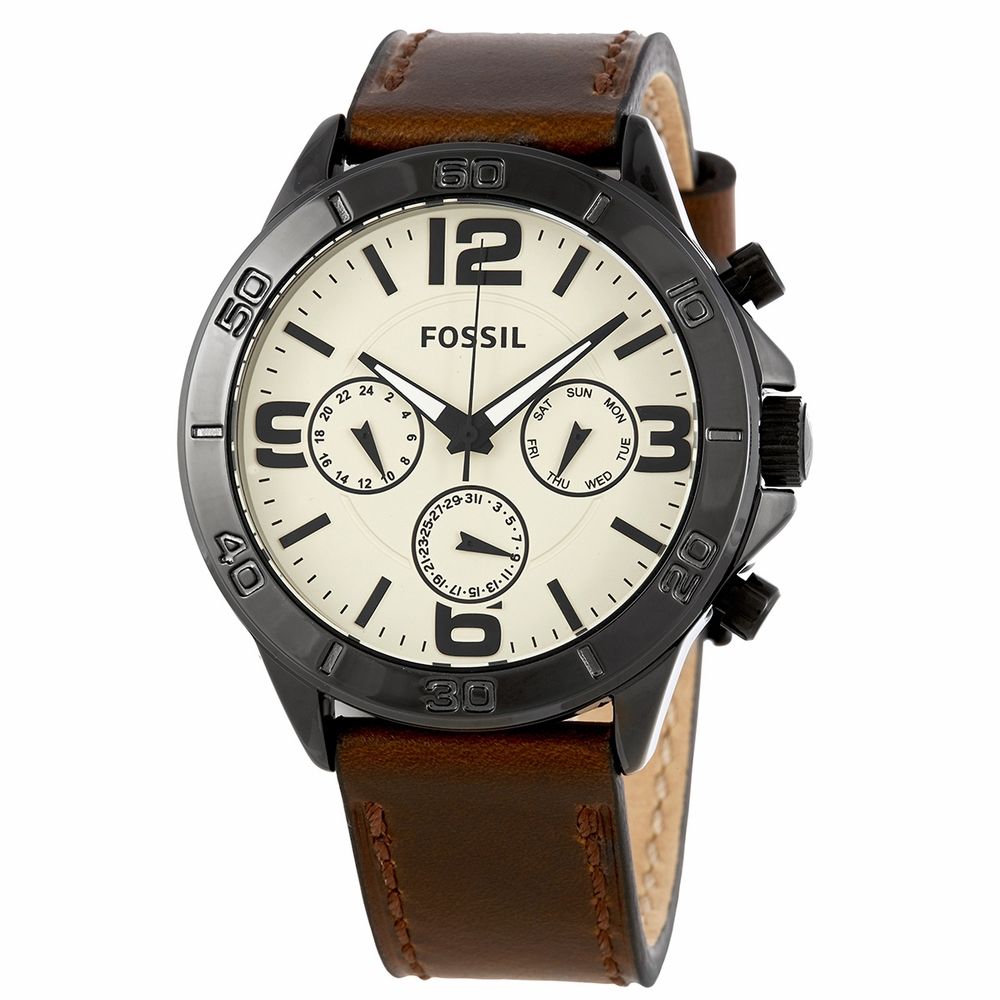 Fossil Quartz Multifunction White Dial Men's Watch