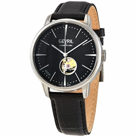 Gevril 9600 Mulberry Open Heart Mens Automatic Watch