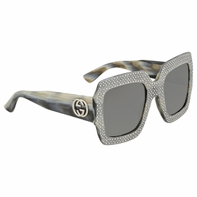 Gucci GG0048S-001 54 Fashion Inspired Ladies  Sunglasses