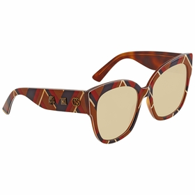 Gucci GG0059S 003 55 GG0059 Ladies  Sunglasses