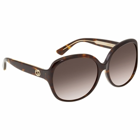 Gucci GG0080SK 003 61 GG0080SK Ladies  Sunglasses