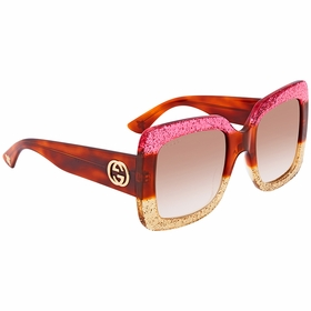 Gucci GG0083S 002 55 GG0083 Ladies  Sunglasses