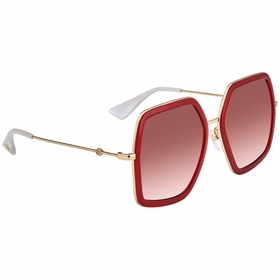 Gucci GG0106S01056 GG0106 Ladies  Sunglasses
