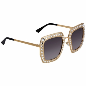 Gucci GG0115S-001 52 Crystal-Studded Ladies  Sunglasses