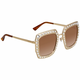 Gucci GG0115S-002 52 Crystal-Studded Ladies  Sunglasses