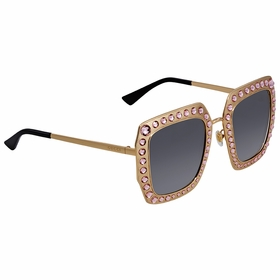Gucci GG0115S-003 52 Crystal-Studded Ladies  Sunglasses