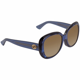 Gucci GG0140SA 003 55 GG0140SA Ladies  Sunglasses
