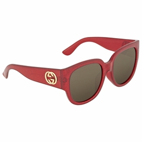 Gucci GG0142SA 003 55  Ladies  Sunglasses