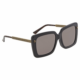 Gucci GG0216SA 001 55 GG0216SA Ladies  Sunglasses