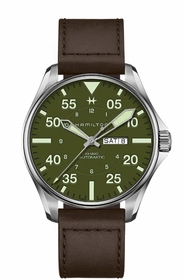 Hamilton H64735561 Aviation Pilot Schott NYC Mens Automatic Watch