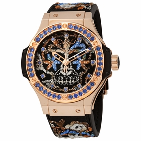 Hublot 343.PS.6599.NR.1201 Big Bang Broderie Sugar Skull Gold Mens Automatic Watch