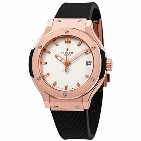 Hublot 581.OX.2610.RX Classic Fusion King Gold Opaline Ladies Quartz Watch