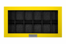 Invicta Watch 12-slot Display Case With Lid, Yellow