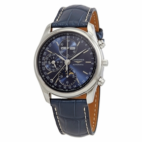 Longines L26734920 Master Collection Complete Calendar Mens Chronograph Automatic Watch