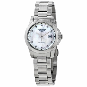 Longines L3.376.4.87.6 Conquest Ladies Quartz Watch