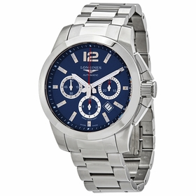 Longines L3.801.4.96.6 Conquest Mens Chronograph Automatic Watch