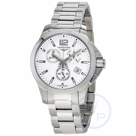 Longines L3.379.4.16.6 Conquest Unisex Chronograph Quartz Watch