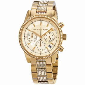 Michael Kors MK6484 Ritz Pave Ladies Chronograph Quartz Watch