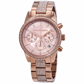 Michael Kors MK6485 Ritz Pave Ladies Chronograph Quartz Watch