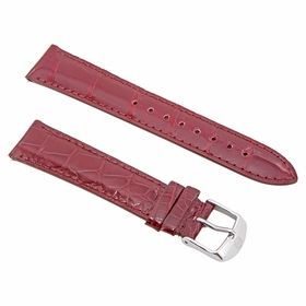 Michele 18mm Garnet Alligator Watch Strap MS18AA010611