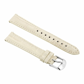 Michele Deco Mid 16mm Bone Alligator Watch Strap MS16AA010105