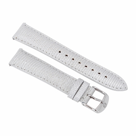 Michele Special Edition 18 mm Smoked Pearl Lizard Leather Watch Strap MS18AA030028
