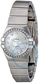 Omega 123.15.24.60.55.001 Constellation Brushed Quartz Ladies Quartz Watch
