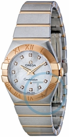 Omega 123.20.27.60.55.001 Constellation Brushed Quartz Ladies Quartz Watch