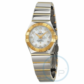 Omega 12320246055004 Constellation  Polished Quartz Ladies Quartz Watch