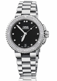 Oris 01 733 7652 4994-07 8 18 01P Aquis Date Diamonds Ladies Automatic Watch