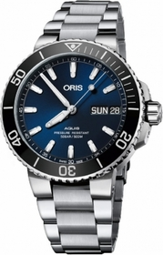 Oris 01 752 7733 4135-07 8 24 05PEB Aquis Big Day Date Mens Automatic Watch