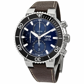 Oris 01 774 7743 4155-07 5 24 10EB Aquis Mens Chronograph Automatic Watch