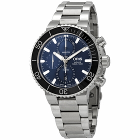 Oris 01 774 7743 4155-07 8 24 05PEB Aquis Mens Chronograph Automatic Watch