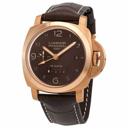 Panerai PAM00487 Luminor GMT 10 Days Mens Automatic Watch