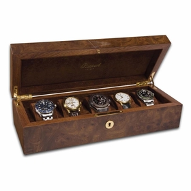 Rapport Portman 5 Watch Collector Case - Walnut Burl L274