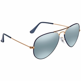 Ray Ban RB30259156AJ55 Aviator Mirror   Sunglasses